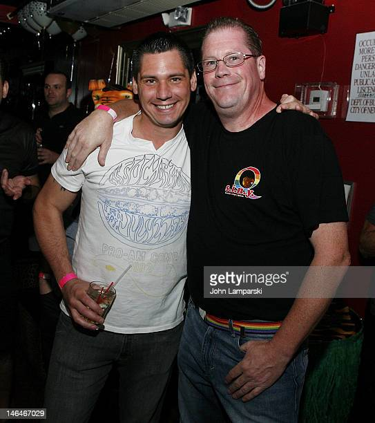 Alex Carr and Ray Carr attend Alex Carr's birthday celebration>> at The Stonewall Inn on June 16 2012 in New York City