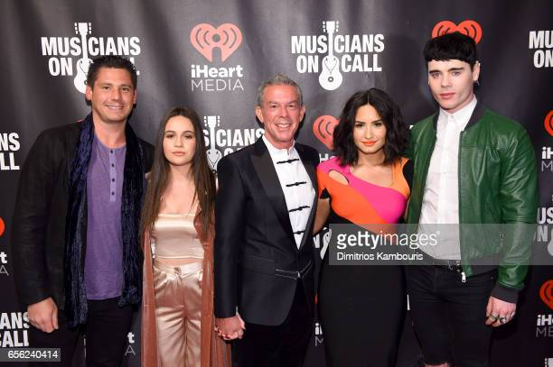 Alex Carr Bea Miller Elivs Duran Demi Lovato and Leon Else attends A Night To Celebrate Elvis Duran presented by Musicians On Call at The Edison...