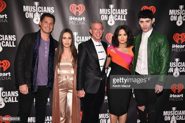 Alex Carr Bea Miller Elvis Duran Demi Lovato and Leon Else attend A Night To Celebrate Elvis Duran presented by Musicians On Call at The Edison...