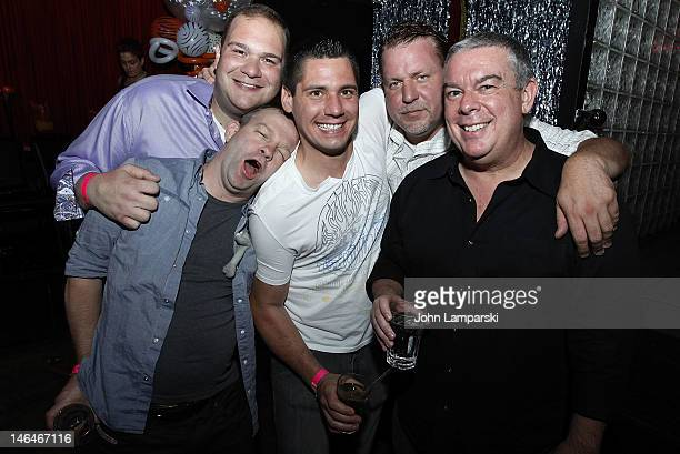 Alex Carr Elvis Duran and guests attend Alex Carr's birthday celebration at The Stonewall Inn on June 16 2012 in New York City