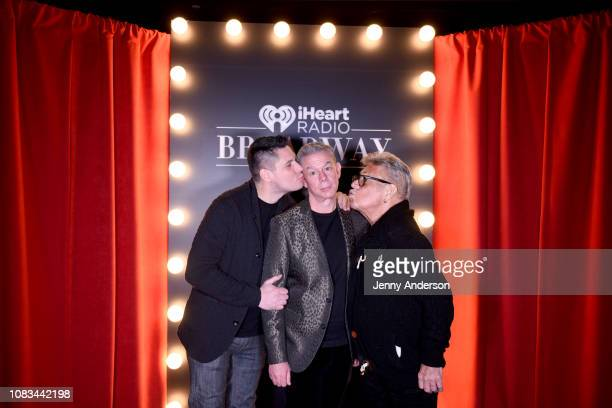 Alex Carr Elvis Duran and Uncle Johnny attend the iHeartRadio Broadway Launch Celebration on January 14 2019 in New York City