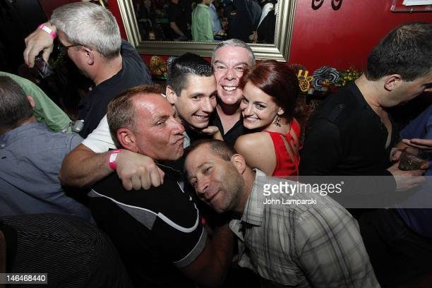 Alex Carr Elvis Duran Elizabeth Fazio Stephen Battista and guests attend Alex Carr's birthday celebration at The Stonewall Inn on June 16 2012 in New...