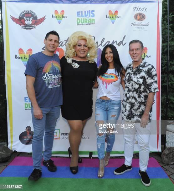 Alex Carr Porsche Drita D'Avanzo and Evis Duran attends Z100's Elvis Duran Attends The 2019 Staten Island Pride Celebration on June 21 2019 in New...