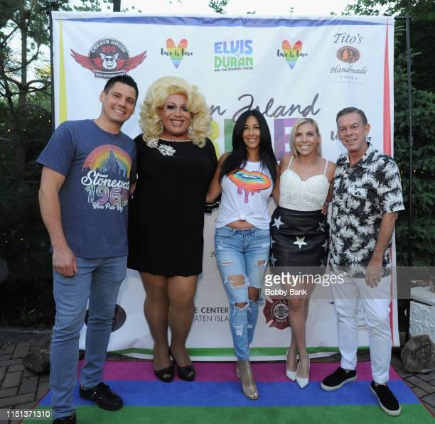 Alex Carr Porsche Drita D'Avanzo Marisa Corvo and Evis Duran attends Z100's Elvis Duran Attends The 2019 Staten Island Pride Celebration on June 21...