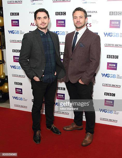 Alex Carter and Warren Brown attends the Writers Guild Awards at RIBA on January 18 2016 in London England