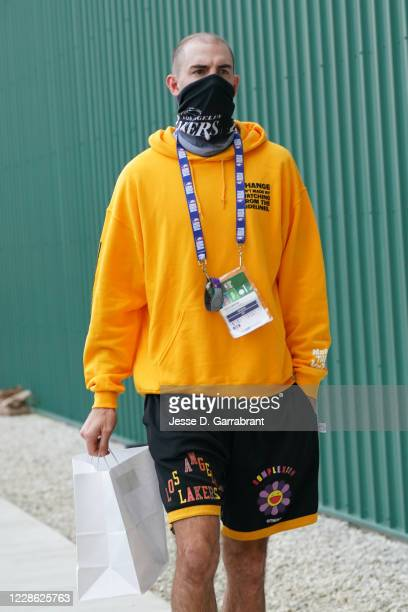 Alex Caruso of the Los Angeles Lakers arrives for the game against the Denver Nuggets in Game two of the Western Conference Finals of the 2020...