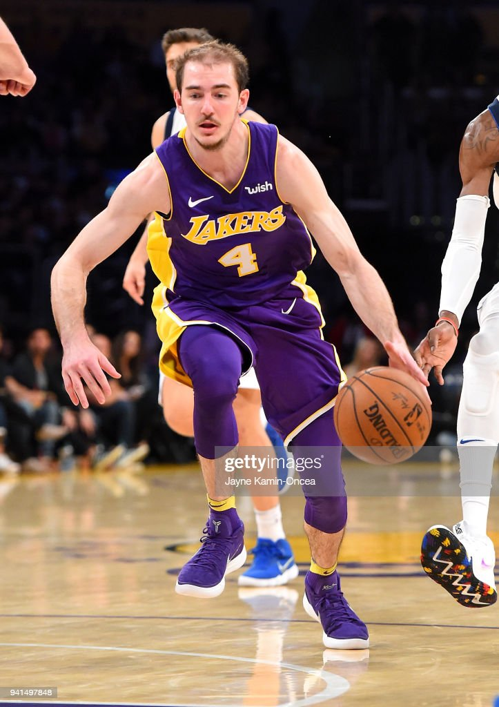 no sale tax special section lace up in Alex Caruso of the Los Angeles Lakers drives to the basket ...