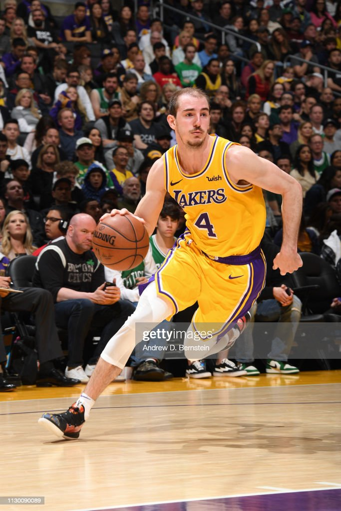 e91ffb2e5 Alex Caruso of the Los Angeles Lakers handles the ball against the ...