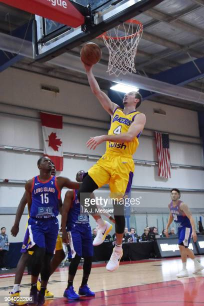 Alex Caruso of the South Bay Lakers shoots the ball during the game against the Long Island Nets at the NBA G League Showcase Game 11 on January 11...