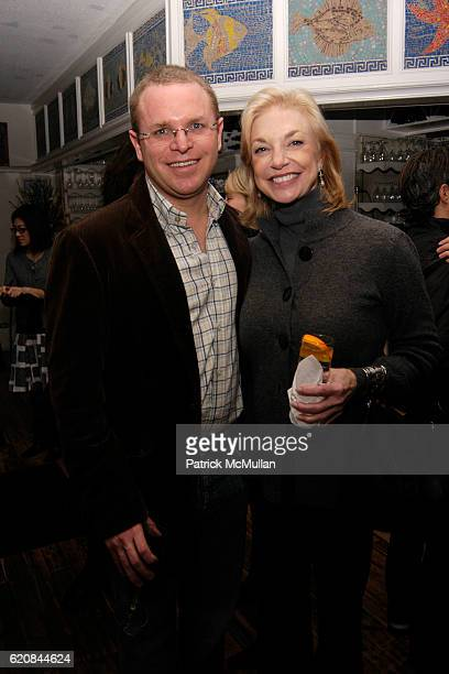 Alex Caselin and Joanne Cassullo attend Whitney Biennial Artists Party at Trata Estiatoria on March 8 2008 in New York City