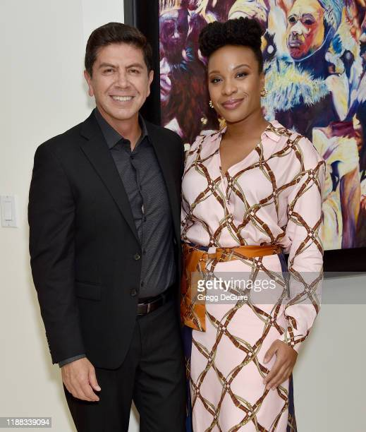 Alex Castillo and Chinonye Chukwu attend the Los Angeles Special Screening of Clemency on December 12 2019 in Los Angeles California