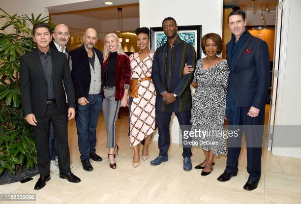 Alex Castillo Julian Cautherley Richard Schiff Bronwyn Cornelius Chinonye Chukwu Aldis Hodge Alfre Woodard and Jed Bernard attend the Los Angeles...