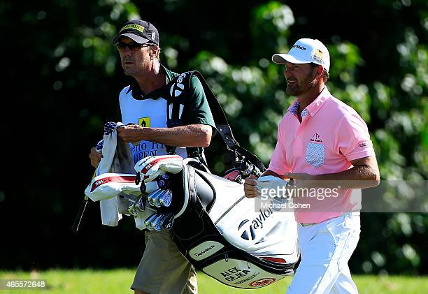 Alex Cejka of Germany and his caddie walk on the 15th hole during round three of the Puerto Rico Open presented by Banco Popular on March 7 2015 in...