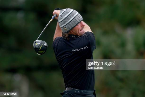 Alex Cejka of Germany plays his shot from the ninth tee during Sanderson Farms Championship Round One on October 25 2018 in Jackson Mississippi