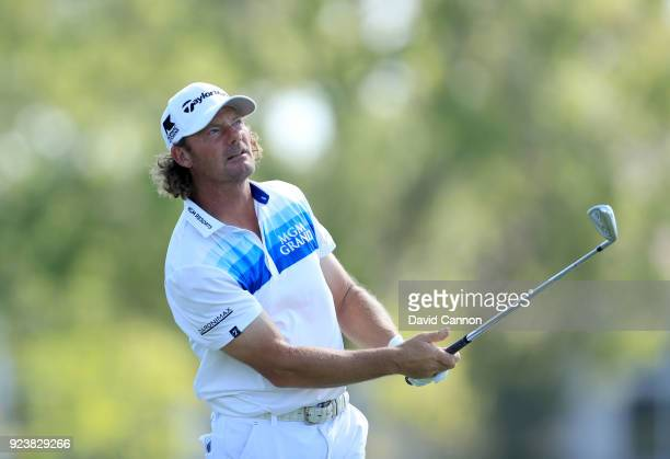 Alex Cejka of Germany plays his tee shot on the fifth hole during the third round of the 2018 Honda Classic on The Champions Course at PGA National...