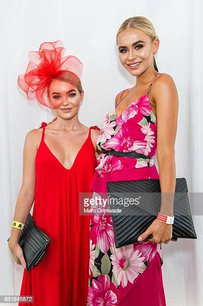 Alex Chadwick and Jessica Roche attend Magic Millions Raceday on January 14 2017 in Gold Coast Australia