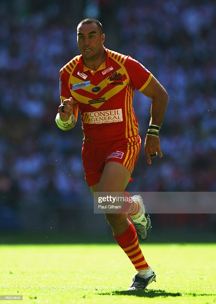 Alex Chan of Catalans in action during the Carnegie Challenge Cup Final between St.Helens and Catalans Dragons at Wembley stadium on August 25, 2007 in London, England.