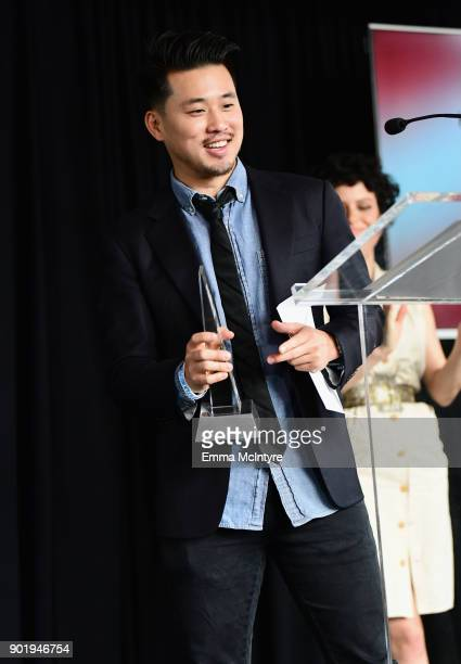 Alex Chi accepts the Kiehl's Someone to Watch Award on behalf of Justin Chon onstage at the Film Independent Spirit Awards Nominee Brunch at BOA...