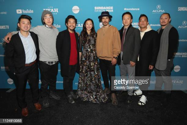 Alex Chi Teddy Lee Justin Chon Tiffany Chu Octavio Pizano Ronnie Kim and Alan Pao attends the Ms Purple Premiere during 2019 Sundance Film Festival...