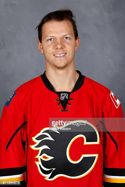 Alex Chiasson of the Calgary Flames poses for his official headshot for the 20162017 season on September 22 2016 at the WinSport Winter Sport...