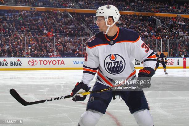 Alex Chiasson of the Edmonton Oilers skates during an NHL game against the Buffalo Sabres on March 4 2019 at KeyBank Center in Buffalo New York