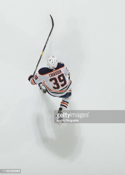 Alex Chiasson of the Edmonton Oilers warms up prior to a game against the Ottawa Senators at Canadian Tire Centre on February 28 2019 in Ottawa...