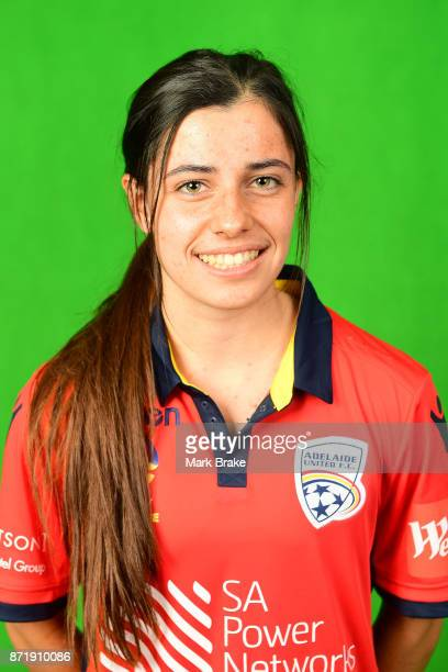 Alex Chidiac 02 poses during the Adelaide United 2017/18 WLeague headshots session at Marden Sports Complex on November 8 2017 in Adelaide Australia