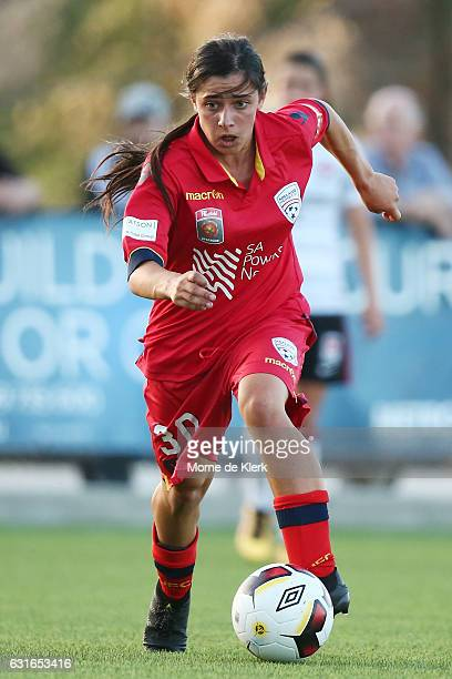 Alex Chidiac of Adelaide United runs with the ball during the round 12 WLeague match between Adelaide United and the Western Sydney Wanderers at...