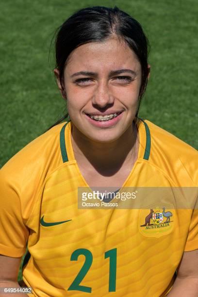 Alex Chidiac of Australia poses for a portrait prior the Women's Algarve Cup Tournament match between Australia and Denmark at Municipal de Albufeira...