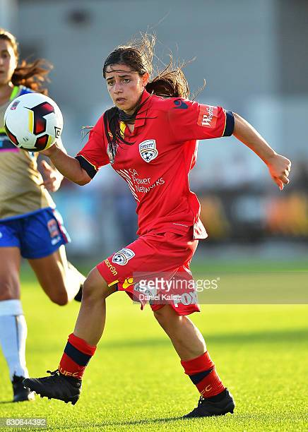 Alex Chidiac of united controls the ball during the round nine WLeague match between Adelaide and Newcastle at Elite Systems Football Centre on...
