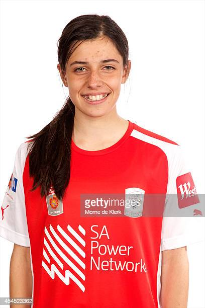 Alex Chidiac poses during the Adelaide United WLeague headshots session at Burton Park Football Centre on September 2 2014 in Adelaide Australia