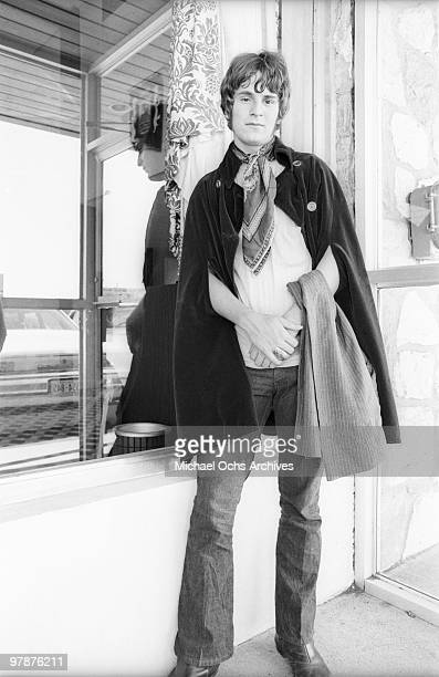Alex Chilton of The Box Tops poses for a portrait outside the Steel Pier on August 11 1968 in Atlantic City New Jersey