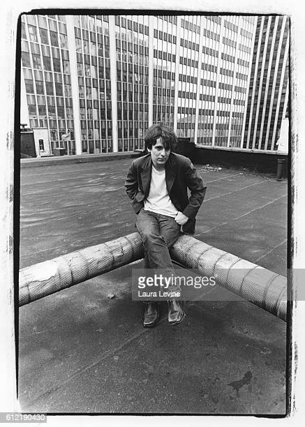 Alex Chilton on the roof of the Iroquois Hotel New York City