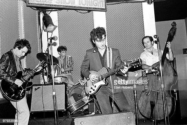 Alex Chilton performing live on stage with Tav Falco and the Panther Burns at SNAFU in New York City on September 211980