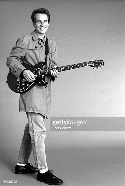 Alex Chilton posed with guitar in the photographer's studio in New York City on September 01 1987
