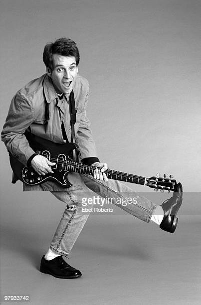 NEW YORK SEPTEMBER 01 Alex Chilton posed with guitar in the photographer's studio in New York City on September 01 1987