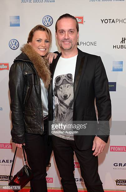 Alex Christensen and Nicki Juice attend networking event 'Movie meets Media' at Hotel Atlantic on December 2 2013 in Hamburg Germany