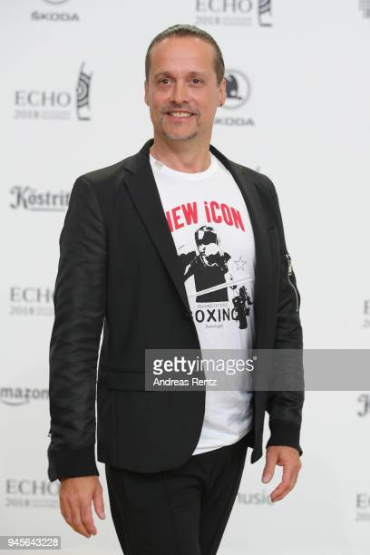 Alex Christensen arrives for the Echo Award at Messe Berlin on April 12 2018 in Berlin Germany