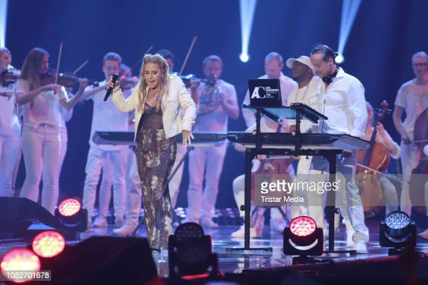 Alex Christensen The Berlin Orchestra feat Anastacia perform during the tv show 'Schlagerbooom 2018 Alles funkelt Alles glitzert' at Westfalen...