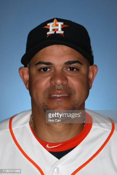 Alex Cintron of the Houston Astros poses for a portrait during photo days at FITTEAM Ballpark of The Palm Beaches on February 19 2019 in West Palm...