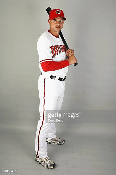 Alex Cintron of the Washington Nationals poses during photo day at Roger Dean Stadium on February 21 2009 in Viera Florida