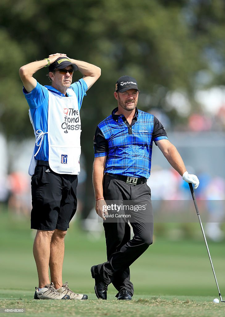 Alex Cjeka of Germany waits to play his tee shot on the par 3, fifth hole during the first round of The Honda Classic on the Champions Course at the PGA National Resort and Spa on February 26, 2015 in Palm Beach Gardens, Florida.