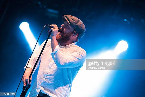 Alex Clare performs on stage on Day 1 of Leeds Festival 2013 at Bramham Park on August 23, 2013 in Leeds, England.
