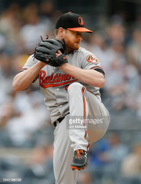 Alex Cobb of the Baltimore Orioles in action against the New York Yankees at Yankee Stadium on September 23, 2018 in the Bronx borough of New York...