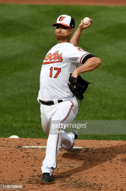 Alex Cobb of the Baltimore Orioles pitches against the New York Yankees at Oriole Park at Camden Yards on April 4, 2019 in Baltimore, Maryland.