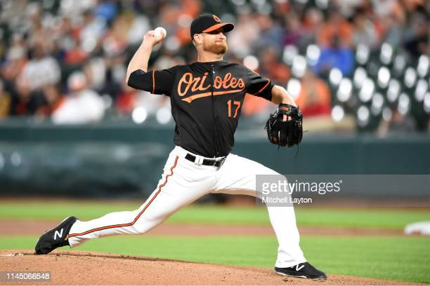 Alex Cobb of the Baltimore Orioles pitches during game two of a doubleheader baseball game against the Minnesota Twins at Oriole Park at Camden Yards...
