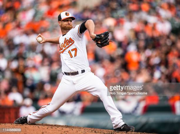 Alex Cobb of the Baltimore Orioles pitches during the game against the New York Yankees at Oriole Park at Camden Yards on April 4, 2019 in Baltimore,...