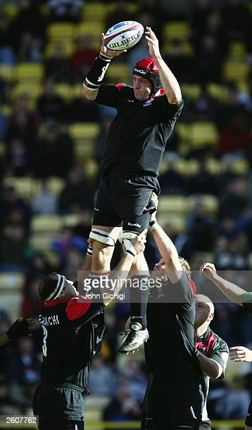 Alex Codling of Harlequins in action during the Zurich Premiership match between Saracens and Harlequins on October 5 2003 at Vicarage Road in...