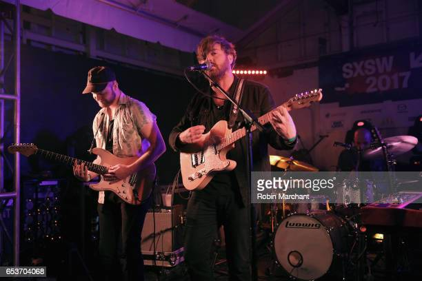 Alex Coleman Cameron Neal and Alberto Roubert perform on stage at the Bella Union 20th Anniversary Party at TuneIn Studios @ SXSW 2017 on Wednesday...