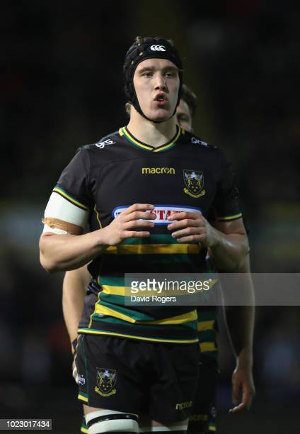 Alex Coles of Northampton Saints looks on during the pre season friendly match between Northampton Saints and Glasgow Warriors at Franklin's Gardens...